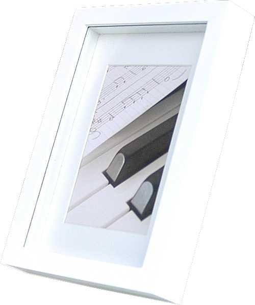 bilderrahmen holz glatt 10x15 - 40x50 klavierlack optik glas +, Moderne