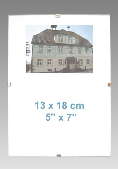 5x rahmenlose glas bilderrahmen 13x18 cm 18x13 cm ebay. Black Bedroom Furniture Sets. Home Design Ideas